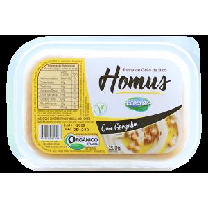 Homus Pasta de Grão de Bico Orgânico c/ Gergelim  200g - Ecobras