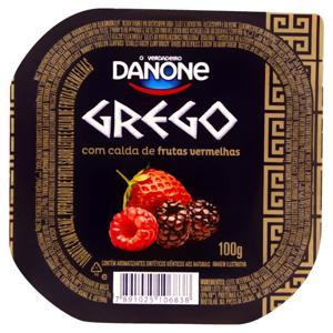 Iogurte Grego Calda Frutas Vermelhas Danone Pote 100g
