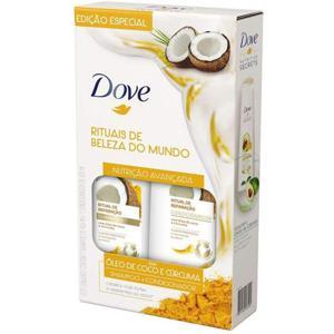 Kit Shampoo 400ml + Condicionador 200ml Dove Ritual de Reparação