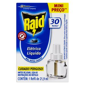 Repelente Elétrico Líquido Raid Caixa 21,9ml Refil