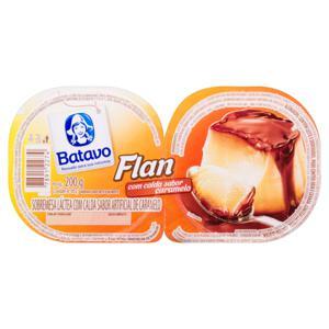 Sobremesa Láctea Flan Calda de Caramelo Batavo Bandeja 200g 2 Unidades