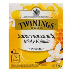 Chá Misto Camomila, Mel e Baunilha Twinings Infusions Caixa 15g 10 Unidades