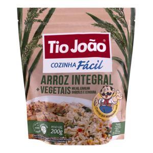 Arroz Integral + Vegetais Tio João Cozinha Fácil Pacote 200g 2 Unidades