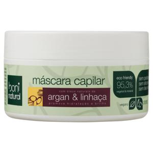 Máscara Argan e Linhaça Boni Natural Pote 250g
