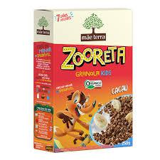 Granola Kids Zooreta Cacau Orgânica 250g - Mãe Terra