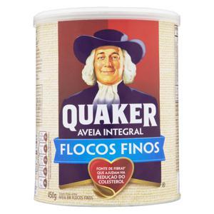 Aveia em Flocos Finos Quaker Lata 450g