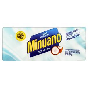 Sabão em Barra Coco Natural Minuano Pacote 1kg