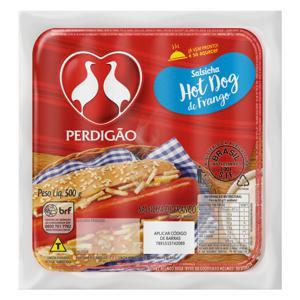 Salsicha de Frango Hot-Dog Perdigão 500g 12 Unidades