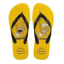 Sandalia Hav Masc Top Simpsons Amarela 43/44