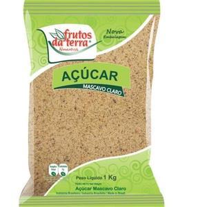 Açúcar Mascavo Frutos da Terra Claro 1Kg