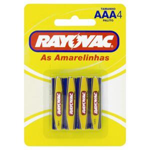 Pilha AAA Rayovac As Amarelinhas Palito 4 Unidades 1,5V