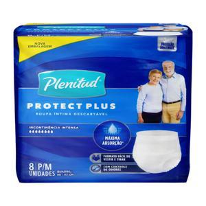 Roupa Íntima Descartável Plenitud Protect Plus P/M Pacote 8 Unidades