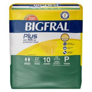 Fralda Descartável Adulto Bigfral Plus P Pacote 10 Unidades