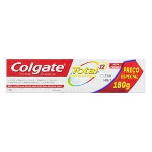 Creme Dental Clean Mint Colgate Total 12 Caixa 180g