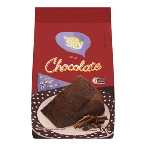 Mistura para Bolo Chocolate sem Glúten Zero Lactose Supra Soy Pacote 300g