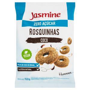 Biscoito Rosquinha Integral Coco Zero Açúcar Jasmine Pacote 150g