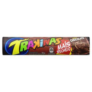 Biscoito com Recheio de Chocolate Trakinas Mais Recheio Pacote 136g