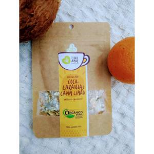 Chá orgânico Coco, Laranja & Capim limão - 15g