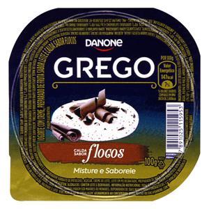 Iogurte Integral Grego Calda Flocos Danone Pote 100g