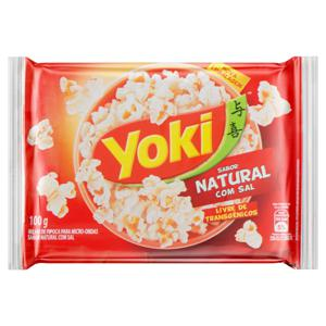 Pipoca para Micro-Ondas Natural com Sal Yoki Pacote 100g