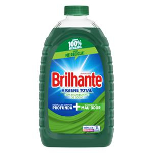 Lava-Roupas Líquido Roupas Brancas e Coloridas Brilhante Higiene Total Galão 3l