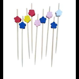 Espeto Flor 09Cm Color 50 Unidades Shiki