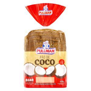 Pão Coco Pullman Pacote 450g
