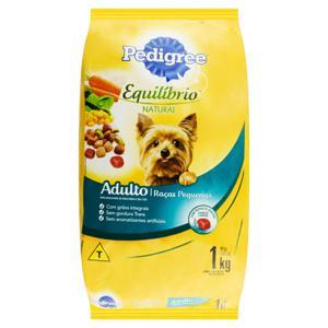 Alimento para Cães Adultos Raças Pequenas Carne Pedigree Equilíbrio Natural Pacote 1kg