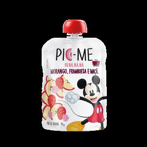 Purê De Frutas 90G Pic-me Disney Morango, Framboesa e Maçã