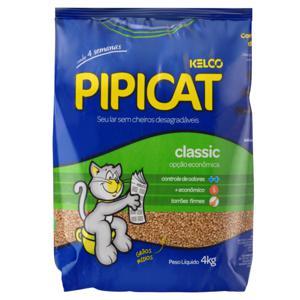 Areia Sanitária para Gatos Classic Pipicat Pacote 4kg