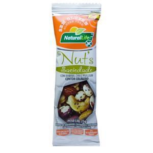 Barrinha De Nuts Natural Life Sem Glúten Saciedade 25G