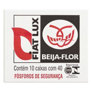 Fósforo de Segurança Fiat Lux Beija-Flor 10 Unidades