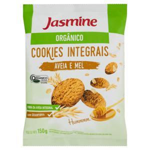 Biscoito Cookie Integral Orgânico Aveia e Mel Jasmine Pacote 150g