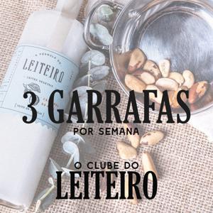 Clube do Leiteiro 3 Garrafas por semana - Total 12 Garrafas