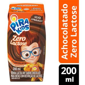 Bebida Láctea Pirakids Chocolate Zero Lactose 200ml