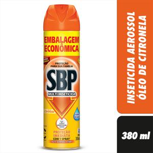 Multi-Inseticida Aerossol Óleo de Citronela SBP Frasco 380ml Embalagem Econômica