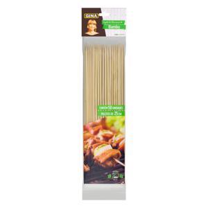 Espeto de Bambu para Churrasco Gina 25cm Pacote 50 Unidades