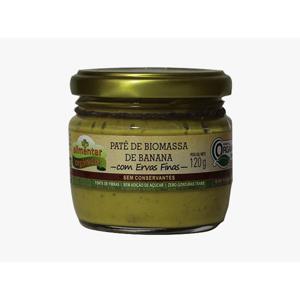 Patê de Biomassa de Banana Verde com ERVAS FINAS - 120g