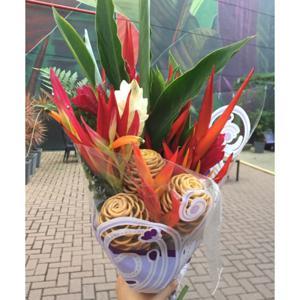 Buquê de flores tropicais (un) - Agroflora Verde