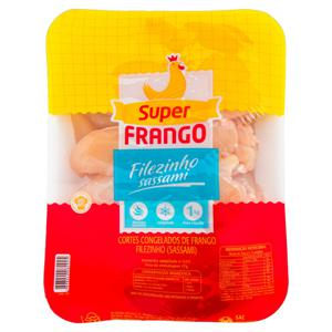 Filezinho Sassami de Frango Congelado Super Frango 1kg