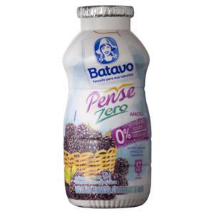 Bebida Láctea Fermentada Amora Batavo Pense Zero Frasco 170g