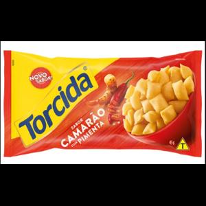 Salgadinho Torcida Jr 45g Camarão com Pimenta