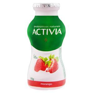 Leite Fermentado Parcialmente Desnatado Morango Activia Frasco 170g