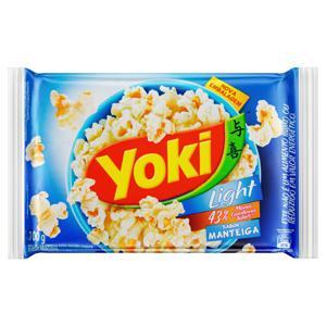 Pipoca para Micro-Ondas Manteiga Light Yoki Pacote 100g