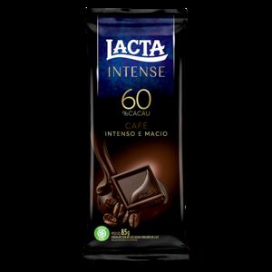 Chocolate 60% Cacau C/ Café Intense Lacta 85g