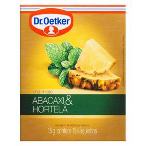 Chá Misto Abacaxi e Hortelã Dr. Oetker Caixa 15g 15 Unidades