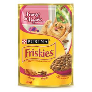 Ração Úmida para Gatos PURINA Friskies Sachê Frango e Fígado ao Molho 85g