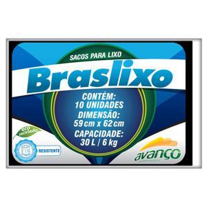 Saco para Lixo BRASLIXO 30L com 10 Unidades