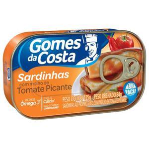 Sardinha Gomes Da Costa Picante 125G