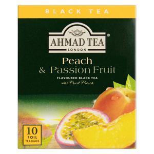 Chá Preto Peach & Passion Fruit Ahmad Tea London Caixa 20g 10 Unidades
